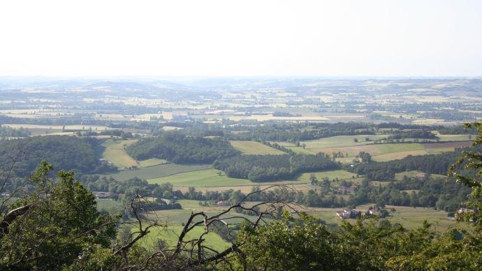 terres agricoles vues de loin