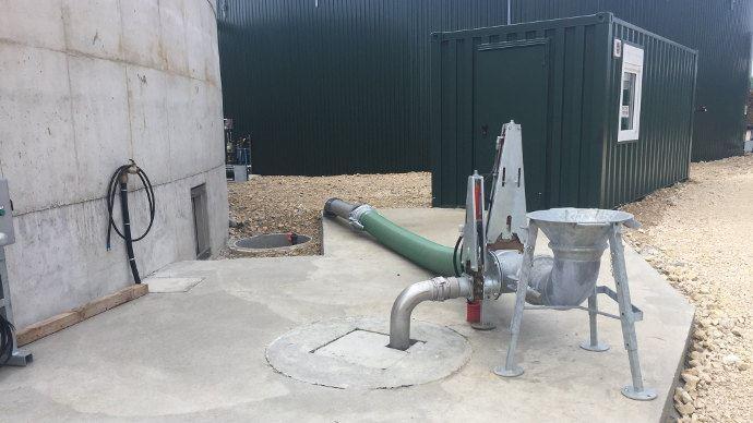 Pichon, la station de pompage reste propre après chaque cycle de pompage