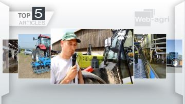 L'embauche d'un salarié et le T6.180 Methane Power de New-Holland à la Une