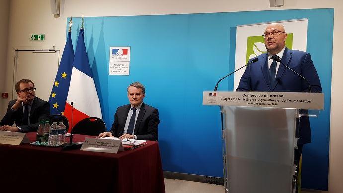 Stéphane Travert, lors de la présentation du projet de budget du ministère de l'agriculture pour 2019.