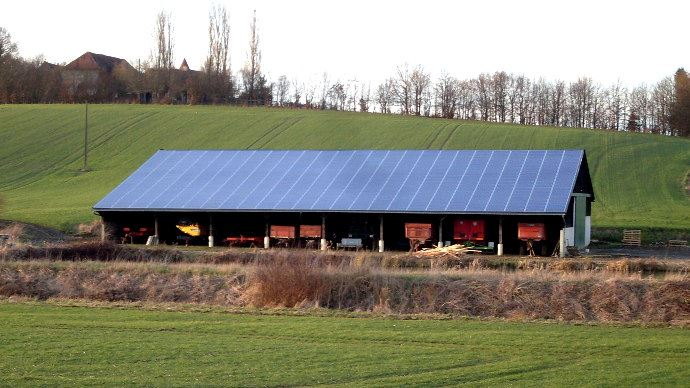 Coudray au Perche (28) une installation de 525 panneaux pour une puissance de 91 kWc