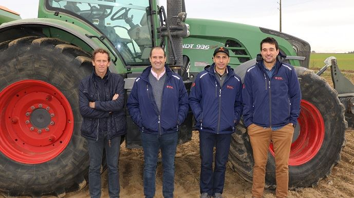 De gauche à droite: Éric Mahaut, Arnaud Clomesnil, Nicolas Viel et Denis Vernet.