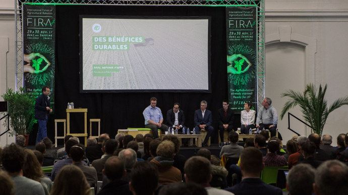 L'une des conférences du Fira 2017 sur la robotique agricole