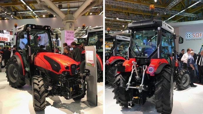 premi re mondiale same lance le tracteur 4 roues directrices. Black Bedroom Furniture Sets. Home Design Ideas