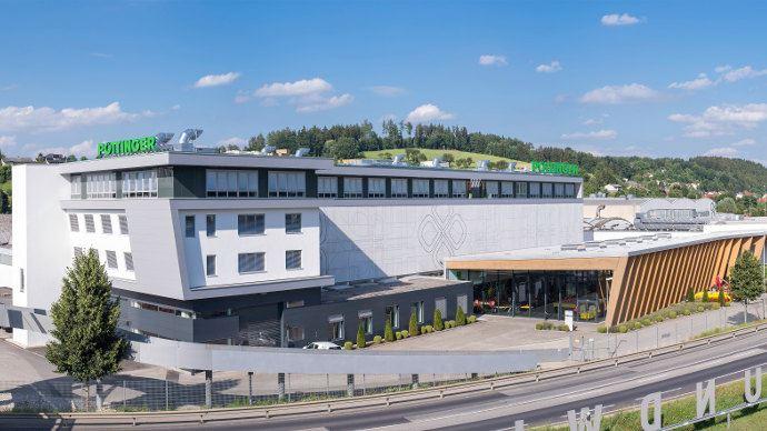 Le siège social de Pöttinger et l'usine de Grieskirchen récemment agrandie