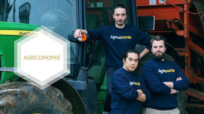 De gauche à droite: Paolin Pascot, Dinh Nguyen et Clément Le Fournis, les fondateurs d'Agriconomie
