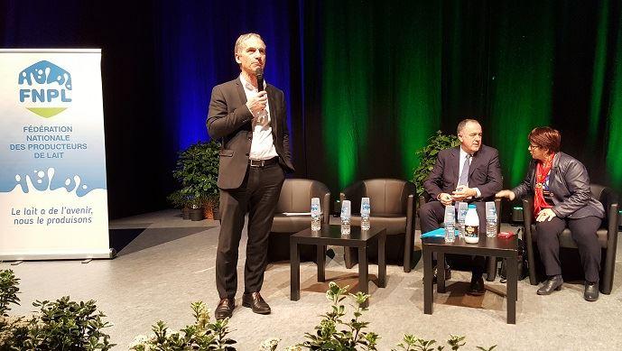Thierry Roquefeuil, président de la FNPL, au congrès de la FNPL jeudi 21 mars 2019.