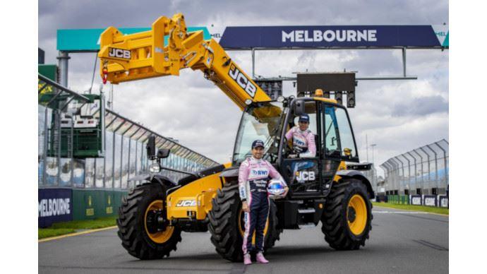 JCB partenaire de l'écurie SportPesa Racing Point F1 Team