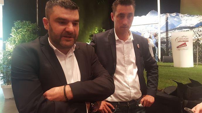 Jérémy Decerle, président de Jeunes agriculteurs, ici aux côtés de Samuel Vandaele, secrétaire général de JA, devrait figurer sur la liste LaRem pour les Européennes du 26 mai prochain.