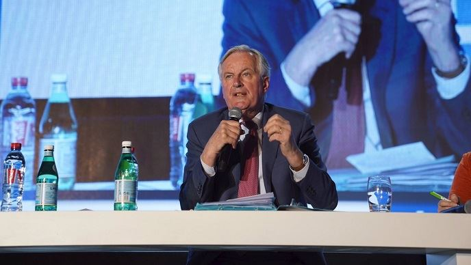 Michel Barnier, négociateur en chef du Brexit, est intervenu mercredi 27 mars 2019 au congrès de la FNSEA, à Nancy.