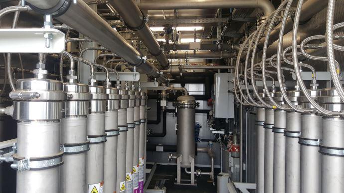 Zone d'épuration du gaz