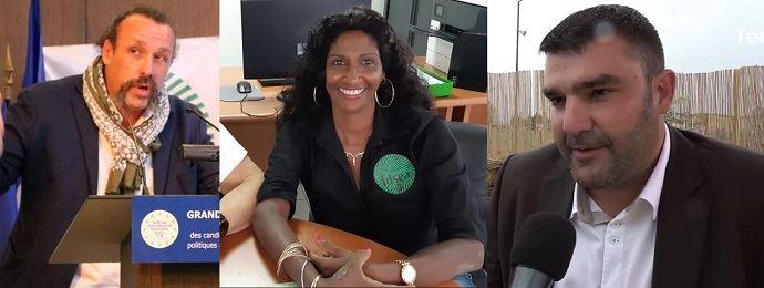 Benoît Biteau (EELV), Maxette Pirbakas-Grisoni (Rassemblement national) et Jérémy Decerle (LREM) sont les trois agriculteurs élus au Parlement européen le 26 mai 2019.