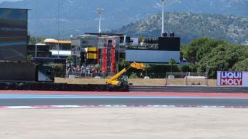 Destélescopiques JCB au Grand Prix de France de Formule 1