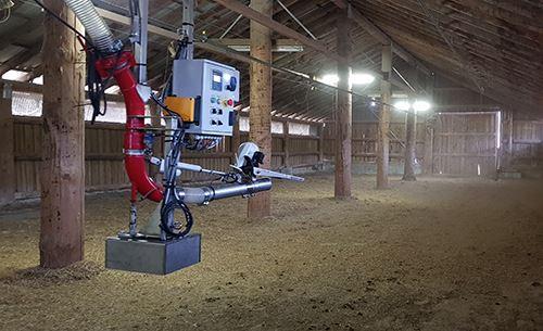 L'automatisation du paillage avec le robot Sentinel 2 de Dussau.