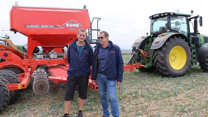 Benoît Mallinger et Benoît Kennel lors d'une journée sur l'agriculture de précision