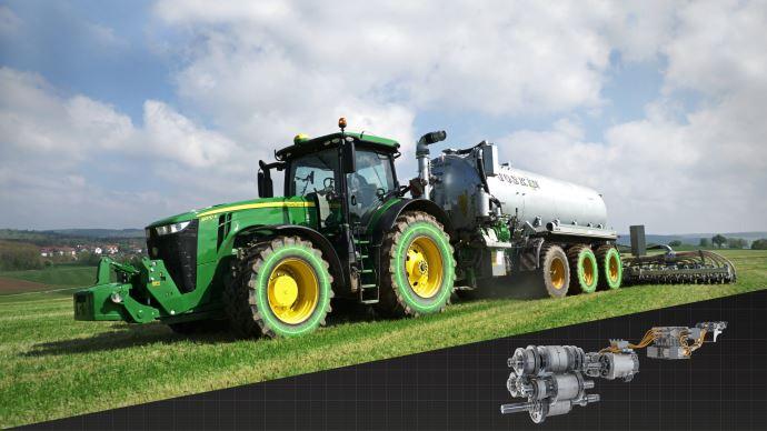 Transmission à variation continue électrique eAutoPower e8WD pour les nouveaux tracteurs 8R