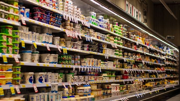 Rayons de supermarché