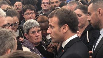Les éleveurs dubitatifs devant Emmanuel Macron