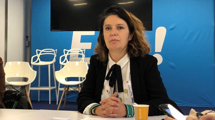 La députée européenne Irène Tolleret, au siège d'En Marche