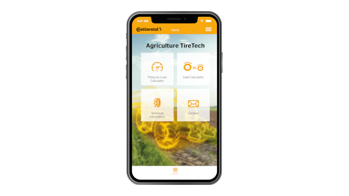 Application smartphone Agriculture TireTech