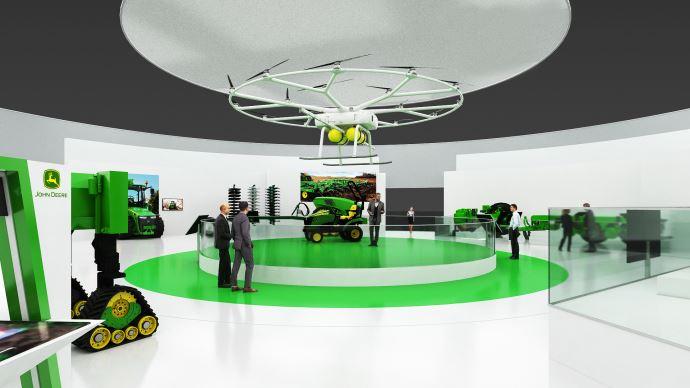 John Deere a crée une zone dédiée aux solutions du futur lors du salon Agritechnica 2019.