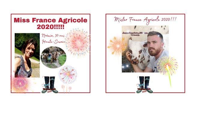 Noémie et Jean-Baptiste, Miss et Mister agri 2020