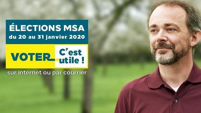 Les élections des délégués MSA se déroule du 20 au 31 janvier 2020. Les résultats seront connus le 7 février prochain.