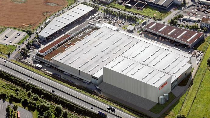 Centre logistique Claas de Hamm en Allemagne