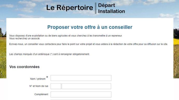 repertoire depart installation en ligne