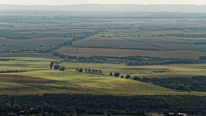 Vue aérienne des champs