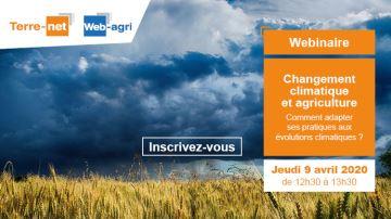 Posez vos questions sur le changement climatique lors du webinaire jeudi 9 avril