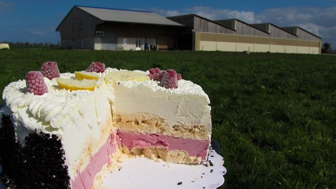 Dessert glacé de la ferme d'Idoine (76)