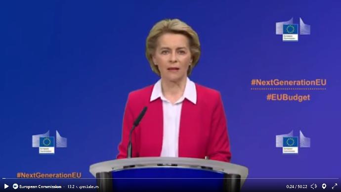 La présidente de la Commission européenne, Ursula Von der Layen, a présenté le 27 mai un plan de relance et des budgets supplémentaires suite à la pandémie de Covid-19