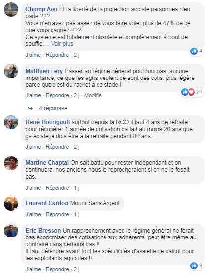 posts facebook rapprochement msa regime general de la securite socialle