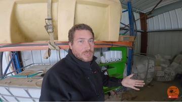 L'heure est au recyclage des déchets sur l'exploitation de Gilles vk