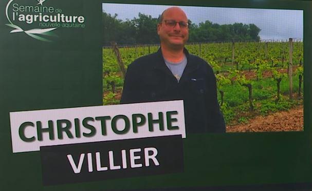 christophe villier jeune agriculteur en gironde temoigne a la semaine del agriculture d aquitaine