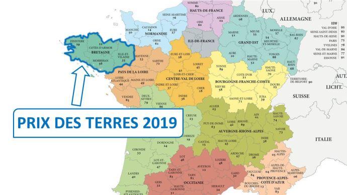 A 5910€, le prix de l'hectare libre en Bretagne progresse légèrement par rapport à 2018