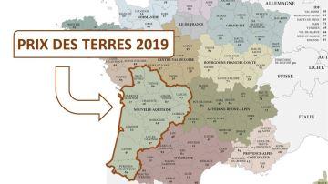 Tous les prix des terres 2019 en Nouvelle-Aquitaine