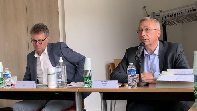 Philippe Heusèle (à gauche) et Eric Thirouin (à droite) ont dressé le 8 septembre un tableau sombre de la situation des céréaliers, demandant au gouvernement un plan de soutien.