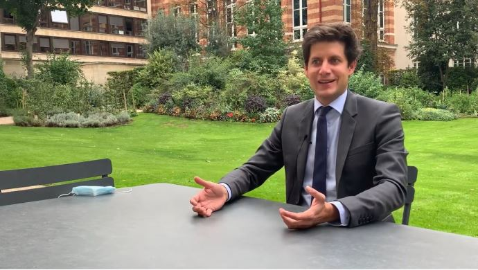 Julien Denormandie, dans les jardins du ministère de l'agriculture, a accordé une interview à Terre-net.fr jeudi 3 septembre, pour évoquer sa feuille de route ministérielle.