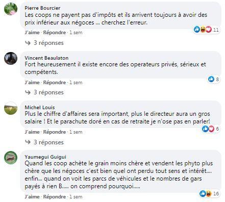 posts facebook sur les cooperatives agricoles