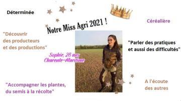 Qui est Sophie, Miss agri 2021?