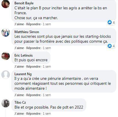 posts facebook restrictions de cultures apres neonicotinoides sur betteraves