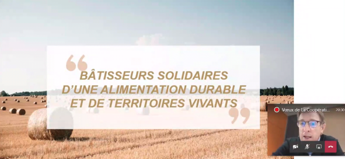 Dominique Chargé a présenté la vision stratégique 2030 de la Coopération agricole, le 21 janvier.