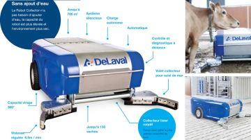 Delaval présente son nouveau robot collecteur de lisier