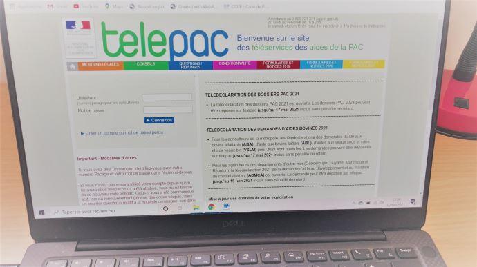 Le site Telepac est ouvert depuis le 1er avril pour le dépôt des dossiers Pac