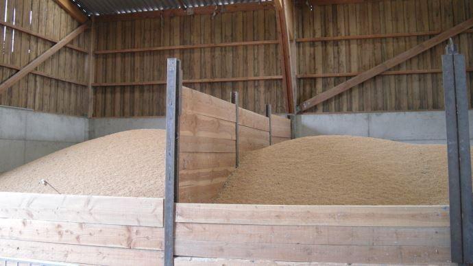 Stockage de blé à la ferme