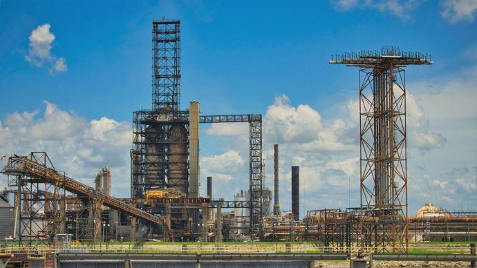 Site d'extraction de pétrole