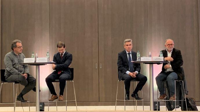 De gauche à droite: Thierry Fellman, Jérôme Brouillet, Pierre Bascou, Eric Andrieu