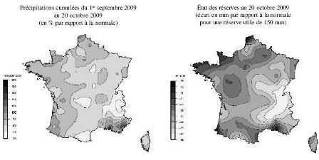 Le déficit de réserves en eau s'accentue